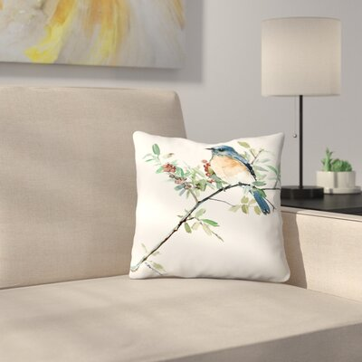 Bluebird Throw Pillow Size: 18 x 18