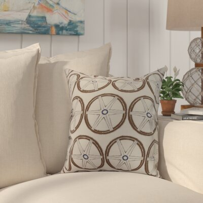Harriet Nautical Geo Lines Geometric Throw Pillow Color: Ivory, Size: 26 x 26