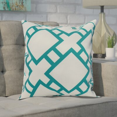 Carmack Square Throw Pillow Color: Teal, Size: 16 x 16