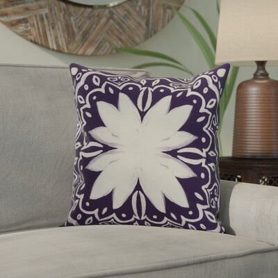Casto Tile Throw Pillow Color: Purple, Size: 18 x 18