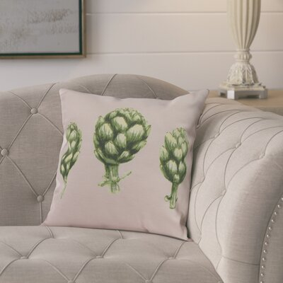 Laymon Throw Pillow Color: Pale Pink, Size: 18 x 18