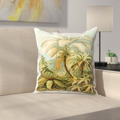 Haeckel Plate 92 Throw Pillow Size: 20 x 20