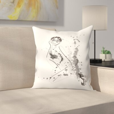 Flapper Throw Pillow Size: 18 x 18