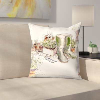 In The Garden Throw Pillow Size: 18 x 18