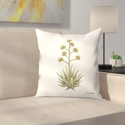 Century Plant Throw Pillow Size: 16 x 16