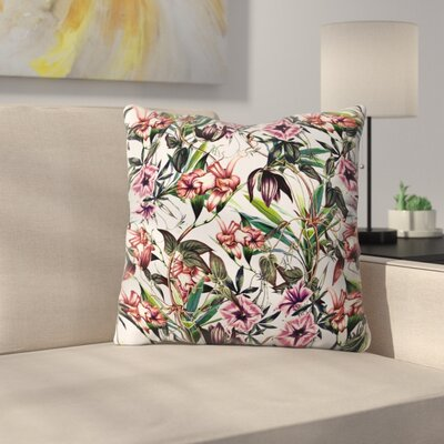 Marta Barragan Camarasa Throw Pillow Size: 18 x 18