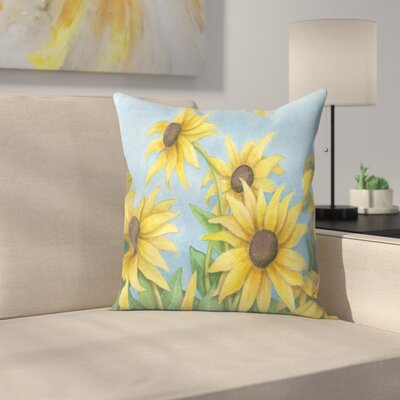 Sunflowers Throw Pillow Size: 14 x 14