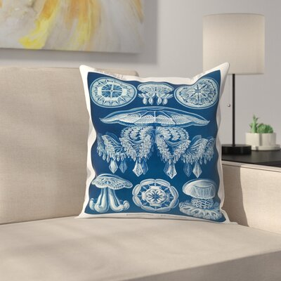 Haeckel Plate 88 Throw Pillow Size: 20 x 20