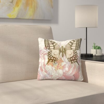 Sepia Swallowtail Throw Pillow Size: 14 x 14