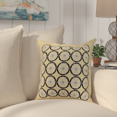 Harriet Nautical Print Throw Pillow Color: Yellow, Size: 16 x 16