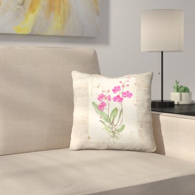 Orchid Woodgrain Throw Pillow Size: 16 x 16