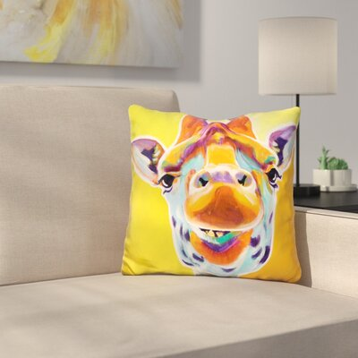 Giraffe No Throw Pillow