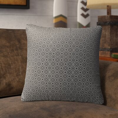 Liam Indoor/Outdoor Throw Pillow Color: Black/Tan, Size: 26 H x 26 W