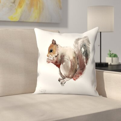 Squirrell 2 Throw Pillow Size: 14 x 14
