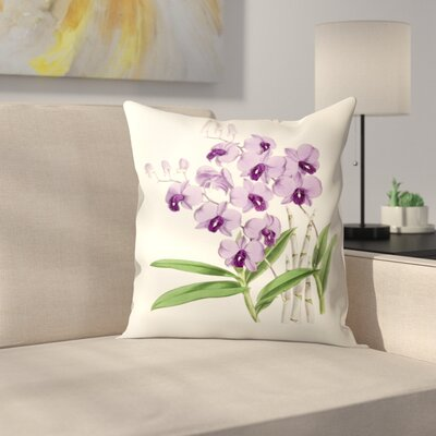Fitch Orchid Dendrobium Bigibbum Throw Pillow Size: 18 x 18