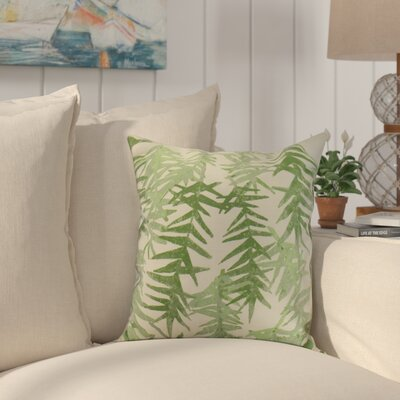Shetland Throw Pillow Color: Green, Size: 16 x 16