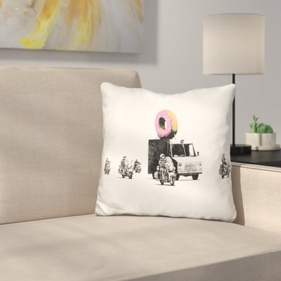 Donut Police Throw Pillow