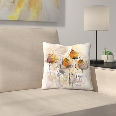 Teasels Throw Pillow Size: 18 x 18