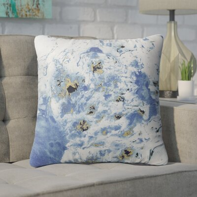 Swaney Throw Pillow Color: Blue, Size: 24 x 24