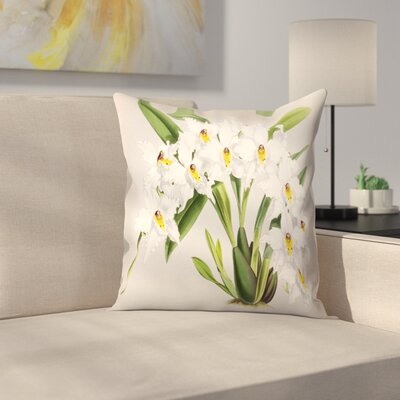 Fitch Orchid Plate Throw Pillow Size: 16 x 16