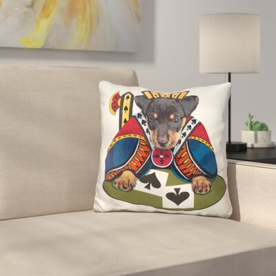 Jack of Spades Throw Pillow