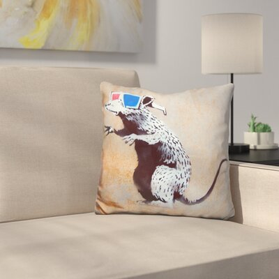 Rat D Glasses Throw Pillow