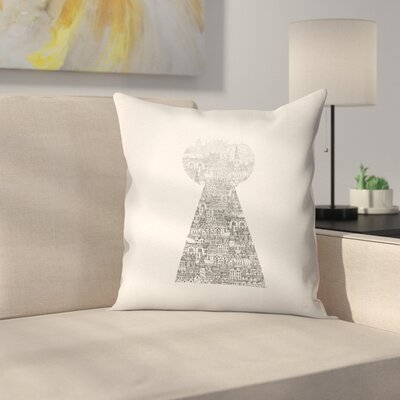 Glimpse Throw Pillow Size: 16 x 16
