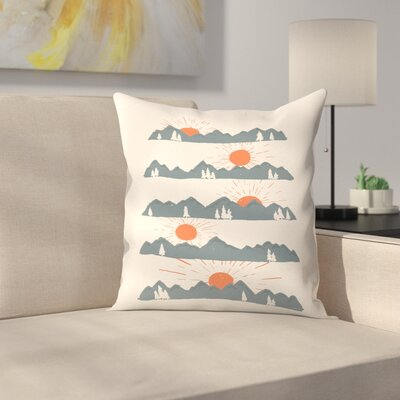 Sunrises Sunsets Throw Pillow Size: 18