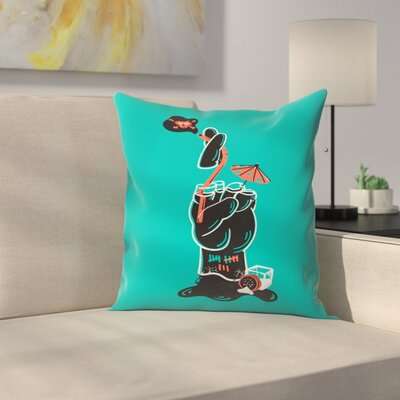 When Good Luck Goes Bad Throw Pillow Size: 14 x 14