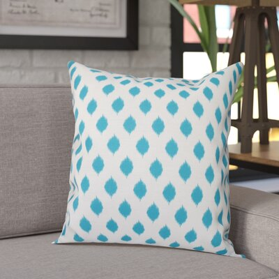 Alarice Cop-Ikat Geometric Print Throw Pillow Size: 20 H x 20 W x 1 D, Color: Turquoise