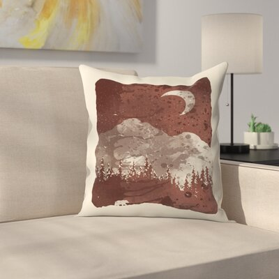 Winter Finds The Bear Throw Pillow Size: 16 x 16