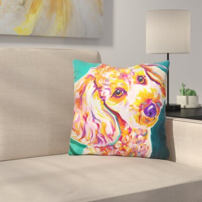 Poodle Curly Throw Pillow