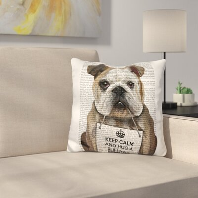 Hug a Bulldog Throw Pillow