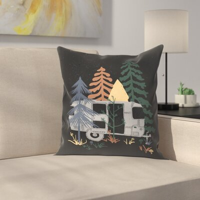 Wild Air Stream Throw Pillow Size: 18 x 18