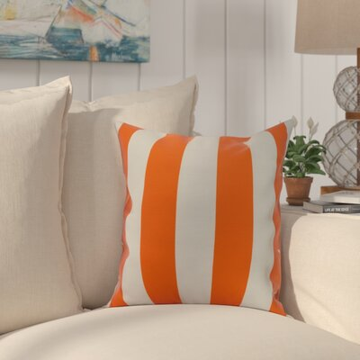 Harriet Rugby Stripe Throw Pillow Color: Orange, Size: 16 x 16