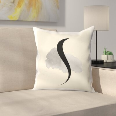 Abstract Text Throw Pillow Size: 14 x 14