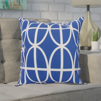 Carmack Print Throw Pillow Color: Royal Blue, Size: 18 x 18