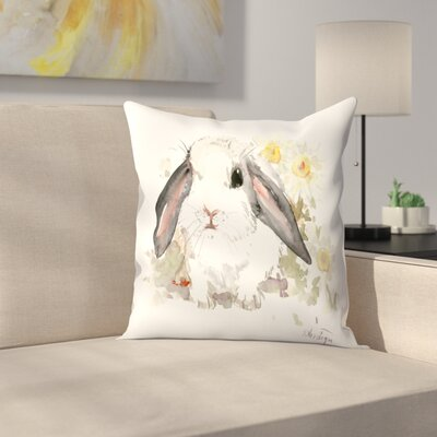 Bunny 7 Throw Pillow Size: 16 x 16