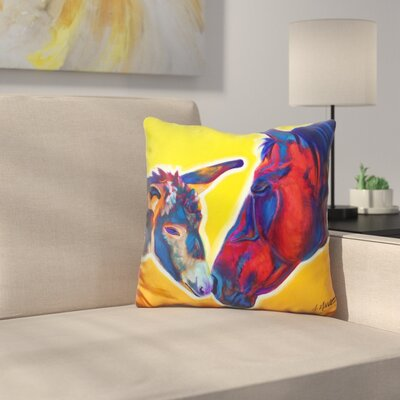 Horse Little Sister Throw Pillow