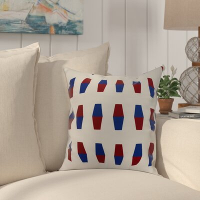 Harriet Bowling Pins Throw Pillow Color: Red, Size: 16 x 16