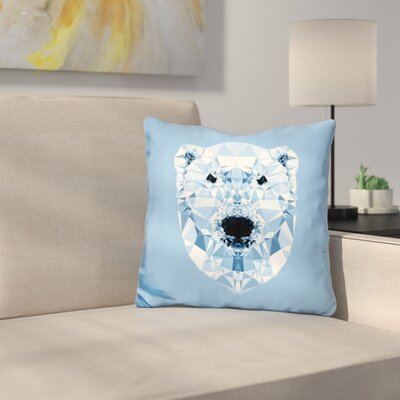 Diamond Polar Bear Throw Pillow