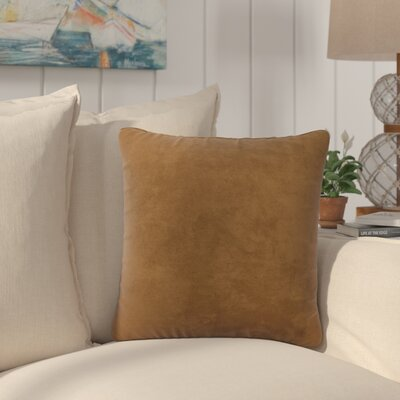 Dugan Soft Suede Throw Pillows Color: Brown