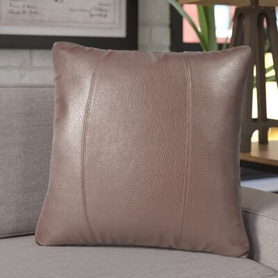 Amald Faux leather Throw Pillow Size: 20 H x 20 W, Color: Pecan