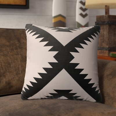 Levering Throw Pillow Size: 18 x 18, Color: Black/Gray/Tan