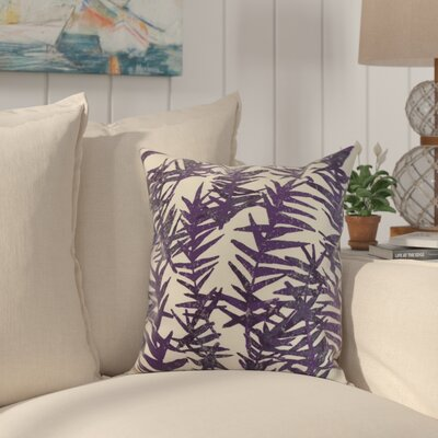 Shetland Throw Pillow Color: Purple, Size: 18 x 18