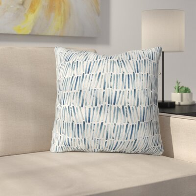 Dash and Ash Strokes and Waves Throw Pillow Size: 16 x 16