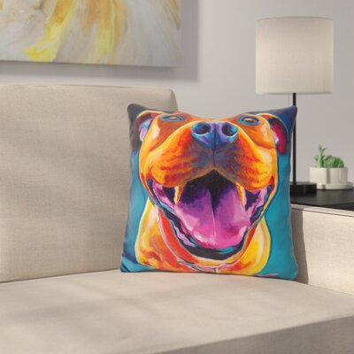 Pittie Party Throw Pillow