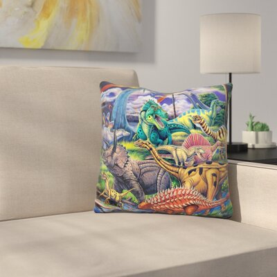 Dinosaur Friends Throw Pillow