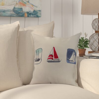 Harriet Print Throw Pillow Color: Ivory, Size: 26 x 26