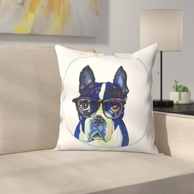 Boston Terrier Dr Hale Throw Pillow Size: 14 x 14